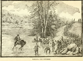Fording the Potomac (from History of the 118th Pennsylvania Volunteers, 1888)